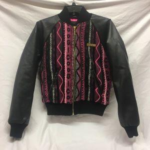 Vintage COOGI Jacket Black and Pink Small